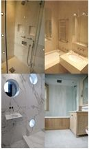 White Marble Bathroom Design