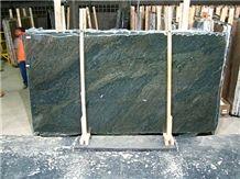 Verde Candeias Granite Slabs, Dark Green Granite Slabs