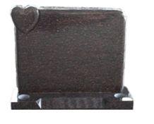 Headstone, Star Ruby Brown Granite
