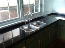 Nero Assoluto Kitchen Countertops, Black Granite