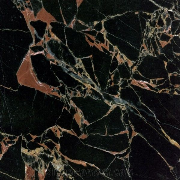Athena Gold Marble Tile Cameroon Black Marble
