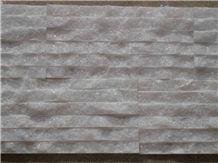 China Crystal White Marble Ledge Stone,Cultured Stone