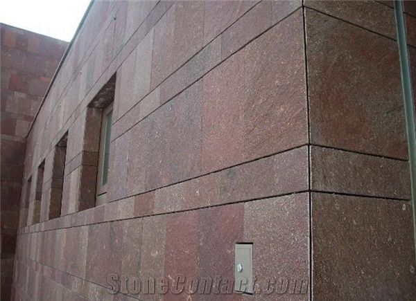 Porphyr Red Exterior Wall Tiles China Red Granite From