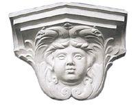 Column Capital Sculpture, Grey Granite Column Capital