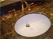 Marble Bath Top, Rain Forest Green Marble