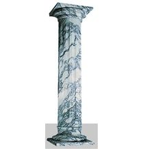 Arabescato White Marble Column