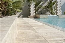 Mexcio Artesanal Durango Travertine Honed/Filled pattern tiles, Beige Travertine tiles, floor covering tiles