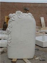 Marble Tombstone Flower Headstone
