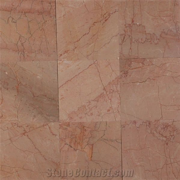 Peach Classic 12x12 China Pink Marble Slabs Tiles From