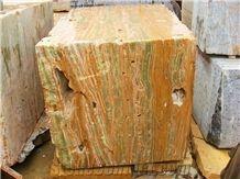 Multi Green Onyx Block