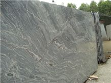 Silver Black Markino Granite Slabs, India Grey Granite