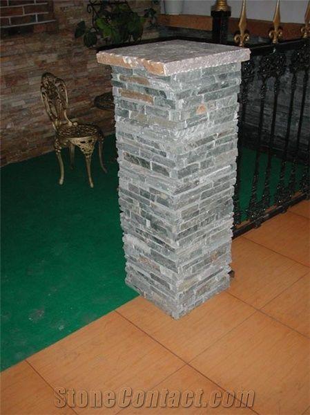 Slate Concrete Gate Post Green Slate Gate Post From China