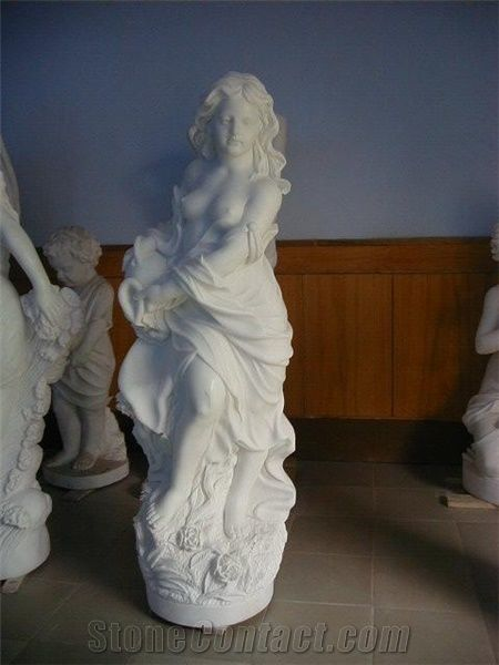 Sexy Woman Statue White Marble Statue From China