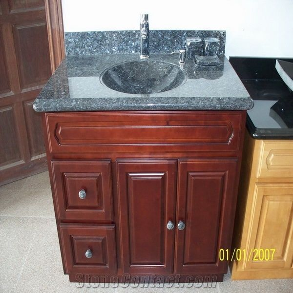 Blue Pearl Vanity Top Set Pearl Blue Granite Vanity Top From China Stonecontact Com