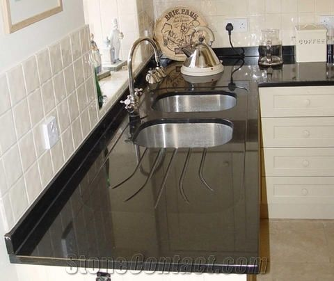 Absolute Black Granite Kitchen Countertop From China 173389 Stonecontact Com