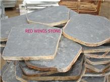 Basalt Step Stone (Flamed), Vietnam Grey Basalt Garden Stepping Pavement