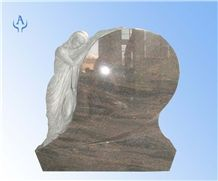 Angel Craving Tombstone, Himalaya Blue Granite