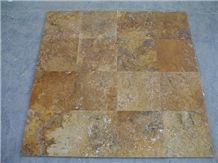 Yellow Travertine Slabs & Tiles, Flooring Tiles, Floor Covering Tiles, Wall Tiles