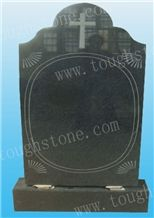 G654 Granite Headstone, G654 Black Granite Headstone