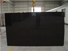 Absolute Black Granite Slabs, India Black Granite