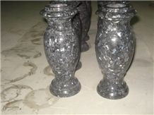 Pearl Blue Granite Monumental Vase