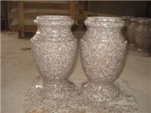 Granite Urn, Vases, G636 Pink Granite Vases