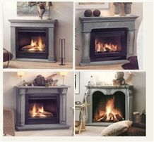 Church Hill Soapstone Fireplace Surrounds and Mant, Grey Soapstone