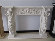 Marble Sculptured Fireplace