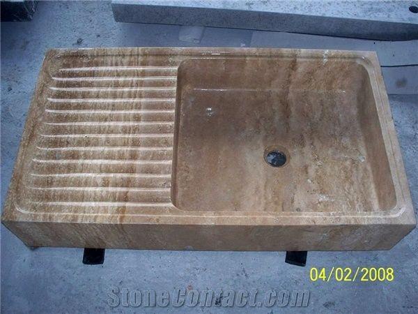 Clothes Stone Wash Basin Beige Sandstone Wash Basin From