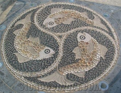 Pebble Stone Mosaic For Garden From China Stonecontact Com
