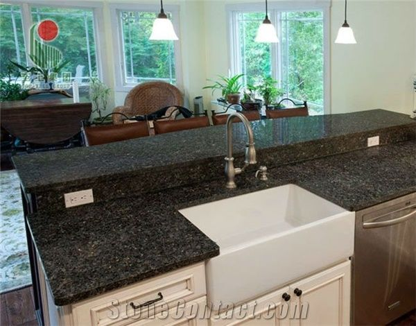 Emerald Pearl Green Granite Countertop From China