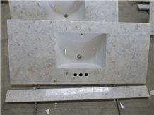 Artificial White Marble Vanity Top, Marble Counter