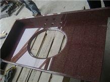 Granite India Red Vanity Top Bath Top, Granite