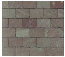 Unfading Mottled Green Slate Roof Tiles