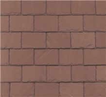 Unfading Red Slate Roof Tiles
