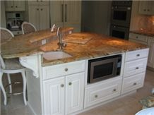 kitchen tiling ideas pictures juparana cascadura kitchen countertop yellow granite 20128