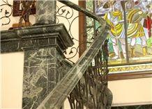 Gris Cehegin Stone Stairs, Grey Marble
