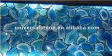 Blue Translucent Agate Semiprecious Stone(J02)