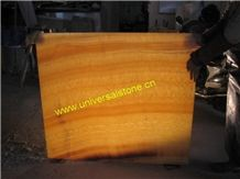 Honey Onyx Glass Panel (J01)