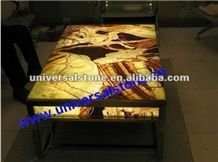 Tiger Vein Onyx Table (J05)