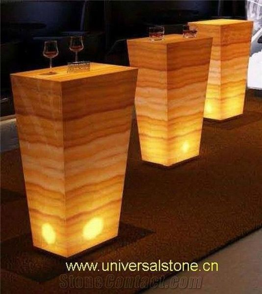 Wooden Vein Onyx Glass Bar Top J19 From China
