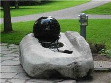 Rolling Ball Fountain, Green Granite Ball Fountain