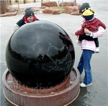 Stone Sphere Fountains, Black Granite Fountains
