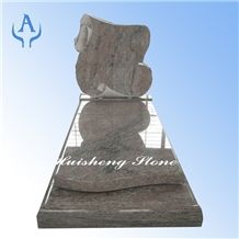 China Multicolor Red Monument Tombstone, Granite