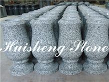Grey Granite Monumental Vase, G603 Grey Granite