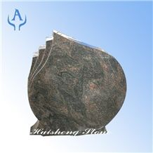 Himalaya Blue German Headstone, Granite