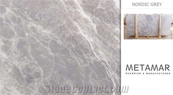 Nordic Grey Marble Slabs Turkey Grey Marble