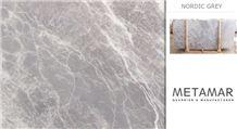 Nordic Grey Marble Slabs, Turkey Grey Marble
