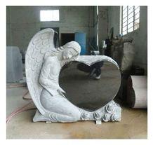 Angel Tombstone, Shanxi Black Granite Tombstone