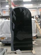 Russian Style Gravestone, Black Granite Gravestone